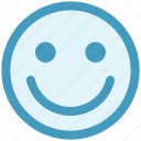 cheerful, emoji, emoticon, face, happy, smile, smiley icon