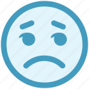 angry, bored, disappointed, emoticon, face, sad, unamused icon