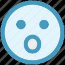 amazed face, emoticons, expression, face smiley, gaze emoticon, smiley, surprised icon