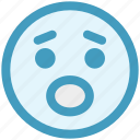 emoticons, emotion, expression, face, sad, smiley, worried icon