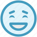 emoticons, excited, expression, face smiley, happy, laughing, smiley icon