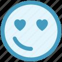 emoji, emoticons, expression, heart, in love, love, smiley icon