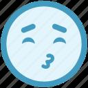 close eyes, emoji, expression, eyes, face, happy, kiss icon