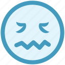 emoticons, expression, face smiley, lip seal, lour, rage, sad icon