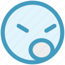 angry, emoji, emotion, emotions, face, sad, unhappy icon