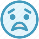 bemused face, emoticons, eyebrows, furrow, smiley, upset icon