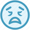 emotion, expression, face smiley, lour, sad, smiley, worried icon