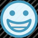 emoticon, emotion, expression, face, happy, laugh, smile icon