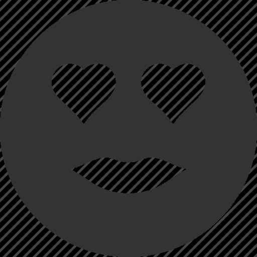 avatar, emoticon, emotion, lady, love, smile, smiley icon