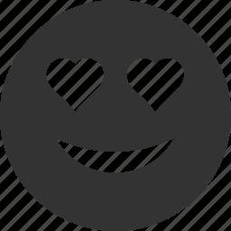 avatar, emoticon, emotion, face, love, smile, smiley icon