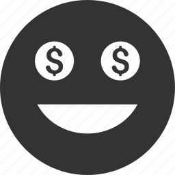 avatar, emoticon, emotion, face, money, smile, smiley icon
