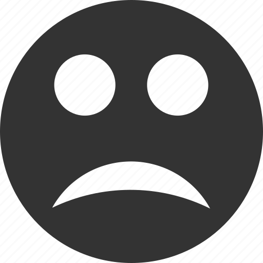 avatar, emoticon, emotion, face, sad, smile, smiley icon