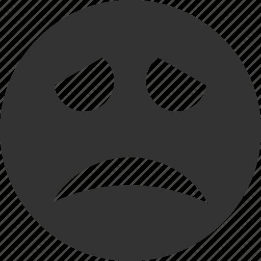 avatar, emoticon, emotion, face, sadness, smile, smiley icon