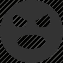 avatar, emoticon, emotion, face, scream, smile, smiley icon