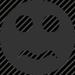 avatar, emoticon, emotion, face, serious, smile, smiley icon
