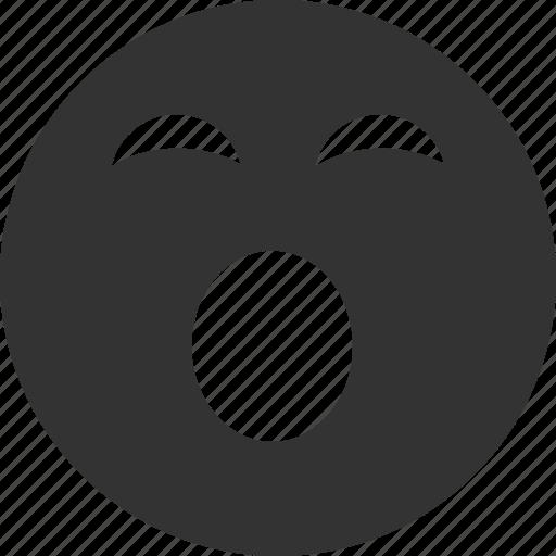 avatar, emoticon, emotion, face, sleepy, smile, smiley icon