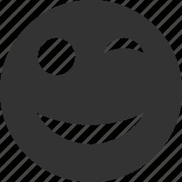avatar, emoticon, emotion, face, smile, smiley, wink icon