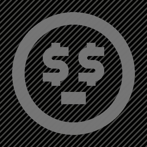 emoji, greed, greedy, money icon
