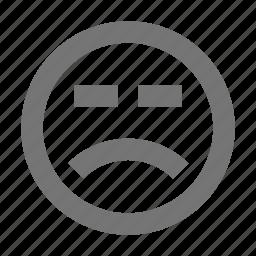 emoji, frown, sad icon