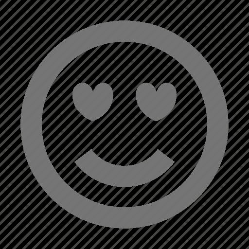 emoji, love, smiley icon