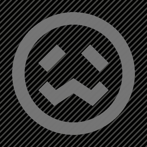 Smiley, embarrased, emoji, nervous, emotion, expression, face icon - Download on Iconfinder