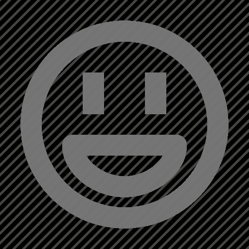 emoji, emotion, expression, face, happy, head, smiley icon