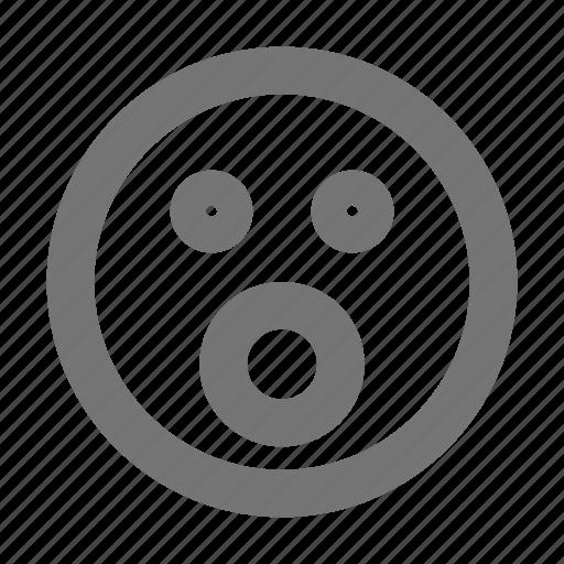 emoji, shock, surprise icon