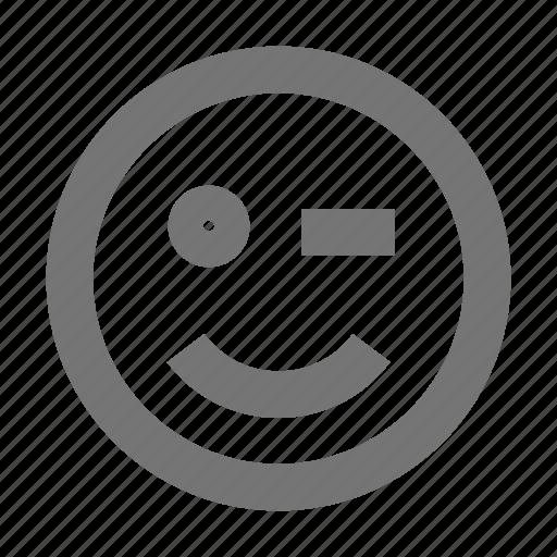 emoji, smiley, wink icon