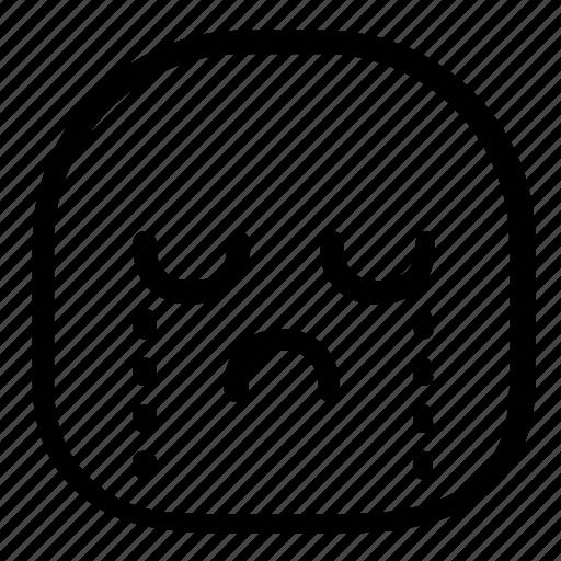 cry, emoji, emoticon icon