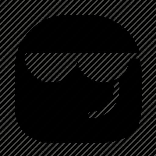 cool, emoticon, sunglasses icon