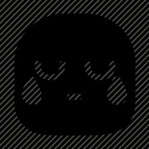 cry, emoticon, sad icon