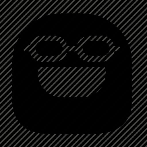 emoticon, nerd, smile icon