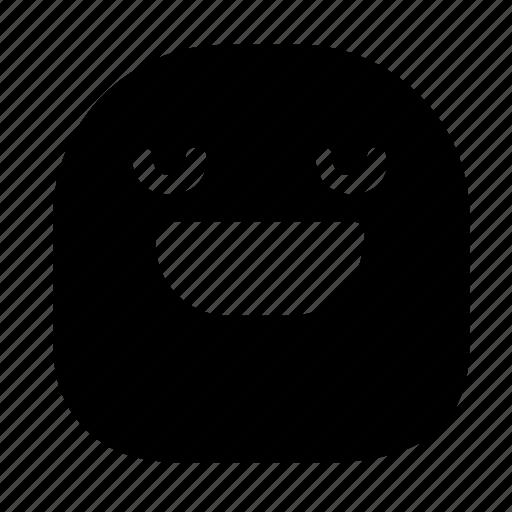 emoticon, grin, happy icon