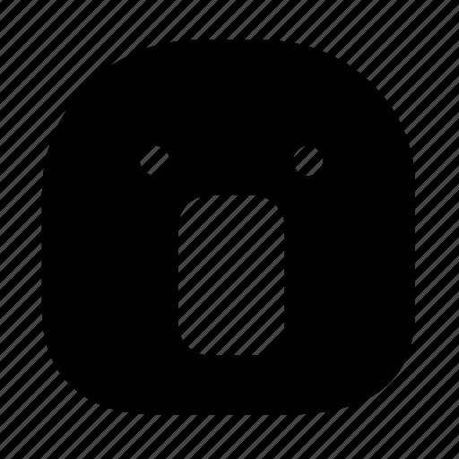 emoticon, shock, surprise icon