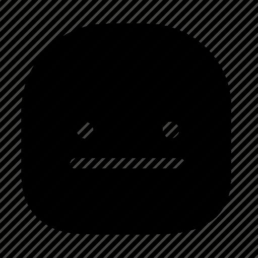 emoticon, speechless icon