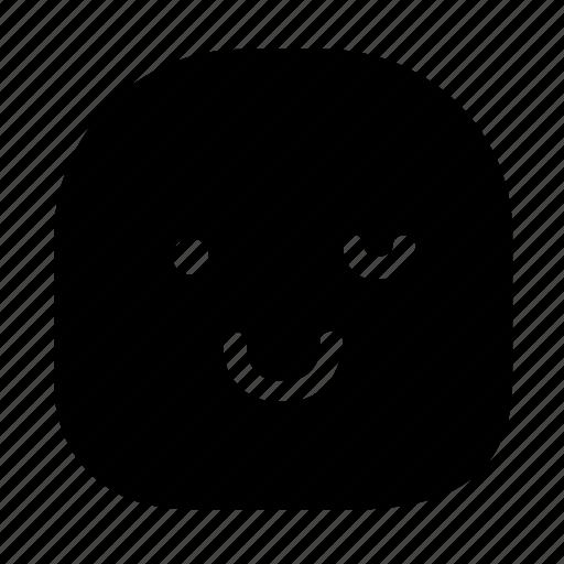 emoticon, smile, wink icon