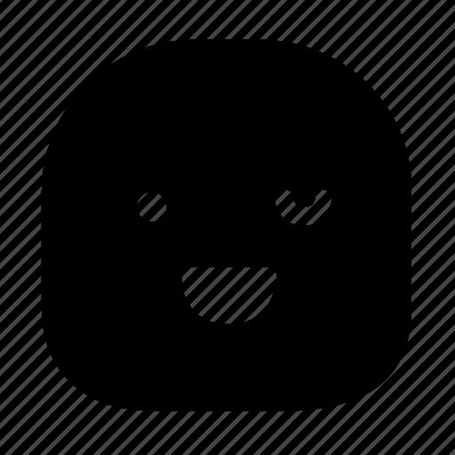 emoticon, grin, wink icon