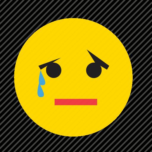 crying emoticons face sad smiley tear icon