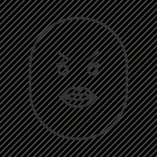 Angry, emoji, emoticon, face, female, sad, smiley icon - Download on Iconfinder