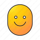 cheerful, emoji, emoticon, glad, happy, smiley, smiling icon