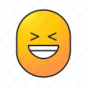 cheerful, emoji, emoticon, happy, laughing, lol, smiley icon