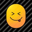 emoji, emoticon, make fun, smiley, teasing, yummy icon