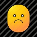 depressed, emoji, emoticon, sad, smiley, unhappy, upset icon