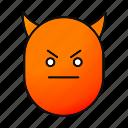angry, devil, emoji, emoticon, evil, face, smiley icon