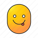 emoji, emoticon, face, fool, silly, smiley, yummy icon