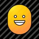 cheerful, emoji, emoticon, funny, happy, smiley, smiling icon