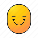 cheerful, emoji, emoticon, face, happy, smiley, smiling icon