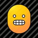 emoji, emoticon, face, frightened, scared, shocked, smiley icon