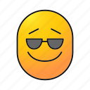 cool, emoji, emoticon, face, smiley, smiling, sunglasses icon