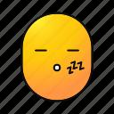 emoji, emoticon, face, sleeping, smiley, snoring, bedtime